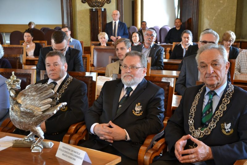 """Przyznanie Medalu """"Cracoviae Merenti"""" dla SKS"""